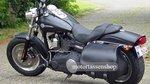 Harley Davidson Dyna met Bigbag, zwart nerfleder, 40L, J5901zn