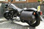 Harley Davidson Softail Bigbag, zwart nerfleder, 40 L, P6900