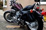 Yamaha Virago motortas, zwart, 2x14 L, C2055