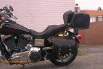 Harley Davidson Dyna met motortas, zwart, 2x27L, G5501nz