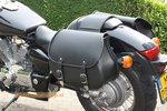 Honda Shadow, Classic motortas, zwart, 2x27L, G5501s