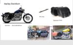 Harley Davidson Sportster Classic motortas, cognac, 2x25L, P5501c