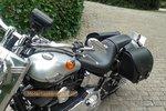 Motortas-set Classic, zwart nerfleer, 2x27L, G5501zn