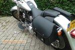 Harley Davidson Softail Bigbag, zwartleder, 40L, J5901s