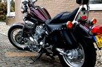 Motortas-set, zwart leer, 2x13L, C2050s