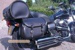 Harley Davidson Dyna, motortas, zwart nerfleer, Classic 27, G5501nz