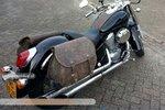 Honda Shadow Classic motortassenset, antiek, 2x27L, G5501a