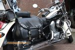 Honda Shadow Classic motortas, zwart nerfleder, 2x27L, G5501n