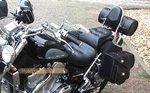 Suzuki Intruder VS motortas, zwart, 2x17 L, D1050s