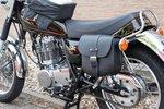 Motortas-set, zwart leder, 2x9 L, A100s