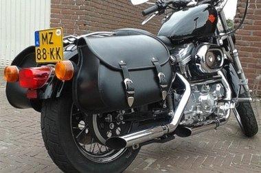 Harley Davidson Sportster, Classic motortas, zwart, 2x27L, G5501s