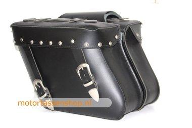 Motortas, zwart met siernagels, 2x13 L, C2005