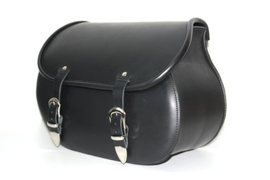 Motortas Classic, zwart nerfleder, polyester frame, 1x25L, P5501zn