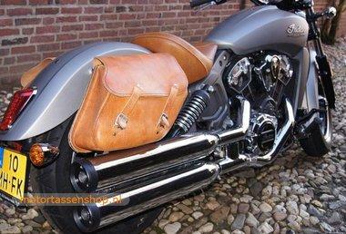 Indian motortas, cognac nerfleder 2x13,5 L C4080c