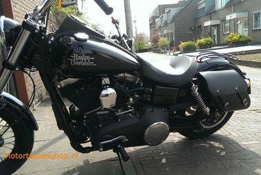 Harley Davidson Dyna met motortassen, zwart, 2x13,5L, C4080s