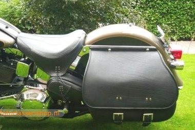 Harley Davidson Softail Bigbag, zwart nerfleder, 40 L, J5901n
