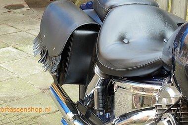 Yamaha Dragstar met motortas, zwart, 2x16L , D5000