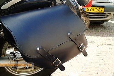 Yamaha Virago met motortas, zwart, 2x13,5L, C4080s
