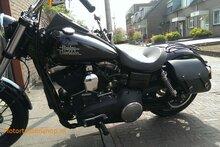 Harley Davidson Dyna met 1 linkse tas C4080 splitleer
